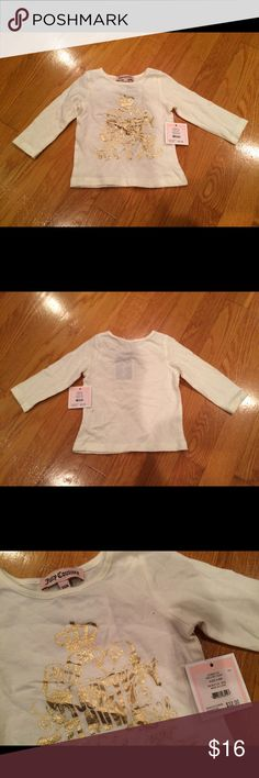 Infant Juicy Couture Long Sleeve T-Shirt $32 BNWT Infant girls size 3-6 months. Brand new with tag, never been worn. Comes from pet and smoke free home. Juicy Couture Shirts & Tops Tees - Long Sleeve