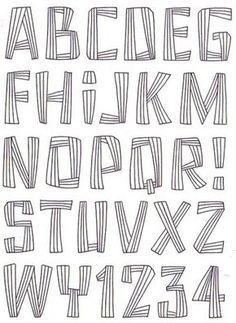 [转载]图纸分享:收集的大写字母12种