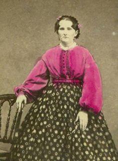 hand colored civil war era waist