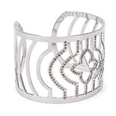Silver Clover Cuff by LK Designs