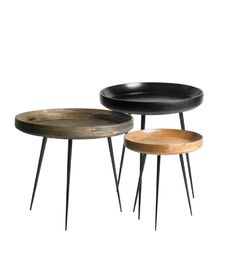 Bowl tables at Mater Design; designed by Ayush Kasliwal / India
