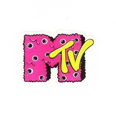 #1182 Music Television MTV , Width 8 cm, decal sticker - DecalStar.com