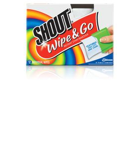 Shout Wipes. On-the-go stain-lifting power
