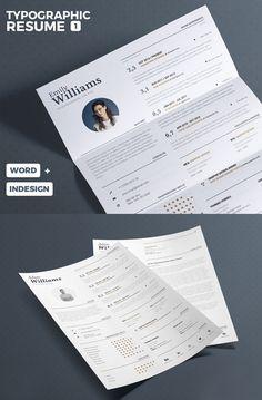Free Typographic Resume Tempalate #resumetemplate #minimalresume #resumedesign #freebie #psdtemplate