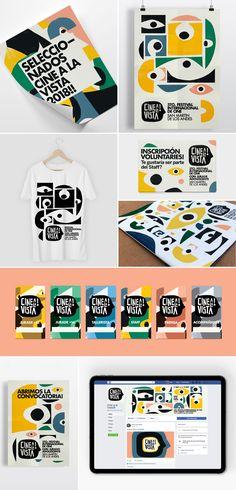 Branding Cine a la Vista, visual identity by Leo Franchi Corporate Identity Design, Event Branding, Branding Agency, Visual Identity, Identity Branding, Personal Identity, Restaurant Branding, Advertising Agency, Identity Card Design