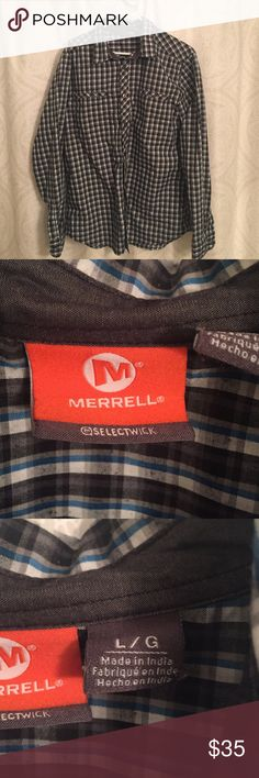 Merrell plaid buttondown. Size large.  Light flannel fabric.  Great condition. Merrell Shirts Casual Button Down Shirts