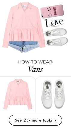 """""""Untitled #558"""" by songjieun on Polyvore featuring Levi's, MSGM, Vans and David Beckham"""