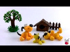 LET'S CLAY. How to make polymer clay YELLOW DOG easily. - YouTube