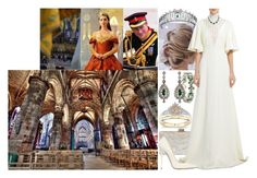 """""""Royal Crossover: Attending the Coronation of Queen Mary III of Scotland with Harry"""" by charlottedebora ❤ liked on Polyvore featuring Alexis Bittar, Edie Parker, Giambattista Valli, Blue Nile, Jimmy Choo, Bulgari, Giles, Kane and Pippa"""