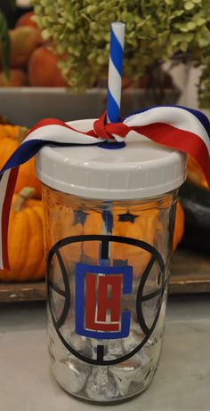 Clippers Mason Jar Tumbler by TumblersByMia on Etsy