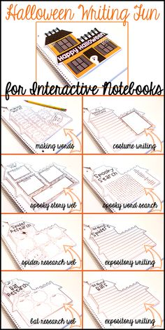 This Halloween Writing Fun Booklet for Interactive Notebooks is ALL you will need to keep your students ENGAGED, WRITING, and having FUN on Hallowen!  Check it out!$