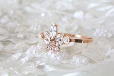 Rose gold Bridal bracelet Bridal jewelry Swarovski blush crystal bracelet Bangle bracelet Crystal Cuff bracelet Wedding jewelry by CoutureBridalStudios on Etsy Swarovski Crystal Rings, Swarovski Bracelet, Crystal Bracelets, Bangle Bracelet, Bridesmaid Bracelet, Wedding Bracelet, Bridal Earrings, Wedding Jewelry, Mens Diamond Wedding Bands