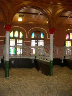 Famous Budweiser stables at the Anheuser-Busch brewery in St. Louis. These stables belonged to Adolphus Busch when he first opened the brewery!