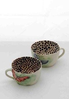 Beautiful mugs via Shannon Garson