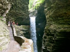 Watkins Glen State Park on Seneca Lake by SENECA FALLS, NY