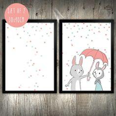 'Be My Bunny Baby' - Børneplakater fra Prik & Streg www.prikogstreg.dk