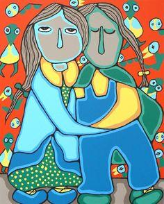 Memories - Contemporary Canadian Native, Inuit & Aboriginal Art - Bearclaw Gallery, Daphne Odjig