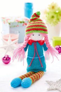 Free Christmas elf knitting pattern by Amanda Berry