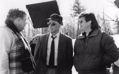 John Candy, Steve Martin and director John Hughes on the set of PLANES, TRAINS & AUTOMOBILES (1987) #Oscars #Platinum #SableFilms
