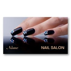 Make a terrific first impression with this Nail Salon Business Card. Customise this design as your own just in minutes. Salon Business Plan, Salon Business Cards, Business Planning, Business Card Design, Home Nail Salon, Nail Salon Decor, Color Your Hair, Nail Spa, Stiletto Nails