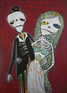 Everyone dreams about having a stoned skeleton wedding!