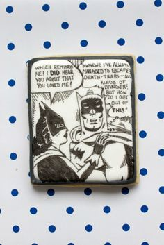 This tutorial is all about comic book inspired cookies and how to transfer images to your cookies with just tissue paper and an edible ink pen!