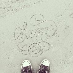 #calligraphy #beach #design #writing #sand http://ift.tt/1tIhHkD
