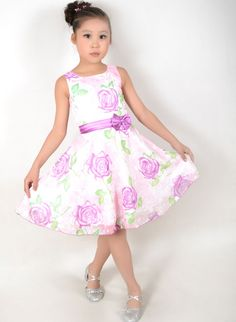 New Girls Dress Purple Rose Wedding Party Princess Kids Size 4-12 #SunnyFashion #Wedding