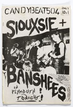 Concert Poster: Siouxsie and the Banshees  (Graphic design / illustration / Punk Rock poster art / flyer )
