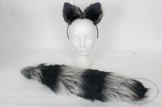 Hey, I found this really awesome Etsy listing at https://www.etsy.com/listing/206570899/silver-raccoon-furry-ear-andor-tail-set