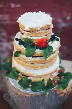 Gluten-Free Lemon Cake Recipe, layered and decorated as a wedding reception cake.