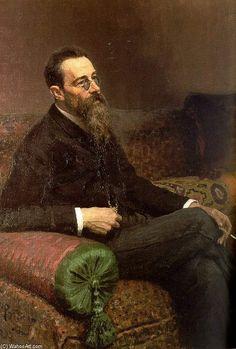 Portrait of the Composer Nikolay Rymsky-Korsakov  Ilya Repin