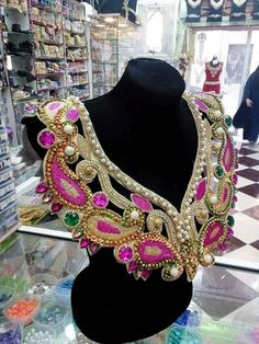 Mardi Gras Costumes, Carnival Costumes, Dress Up Costumes, Dance Costumes, Couture Beading, Beaded Jewelry, Beaded Necklace, Samba Costume, Shoulder Necklace