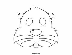 Beaver Mask to Color