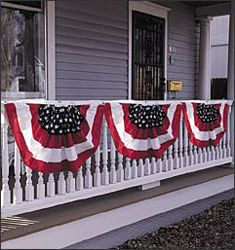 Patriotic Bunting - Decorations & Storage - Holidays & Gifts - Walter Drake