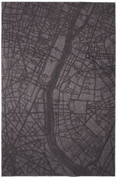 """Hand rendered maps of world cities etched into 5 mm (1/4"""") felt. Other available cities: Berlin, New York, London, Tokyo.    store: http://www.mossandlam.com/"""