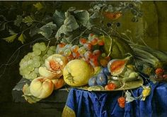 Cornelius de Heem  Still Life with Fruit  17th century    stilllifequickheart: