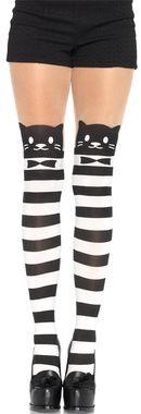 Tights Striped Cat