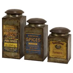 3-Piece Durand Canister Set - Old Loves & New Finds on Joss & Main