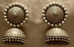 old saraki silver jhumke - Google Search