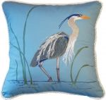 3D - Great Blue Heron Pillow