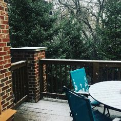 Currently: snowing. Guess I should have brought the patio furniture in.