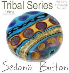 Lampwork Tutorial learn to make a SEDONA Tribal Glass Button Bead | beadsandbotanicals - E-books on ArtFire