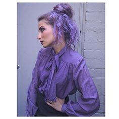 We love this violet vision  of talfitzpatrick, whose #hair was colored by the ManicPanic's PurpleHaze was