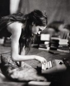 "Freja Beha Erichsen by Paolo Roversi in ""A Woman of a Singular Charm"", Vogue Italia November 2007"