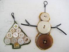 diy button art for christmas | Bonkers About Buttons | DIY_Button Art | Pinterest