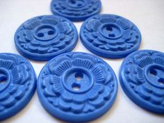 Vintage Buttons Cornflower Blue, via Etsy.