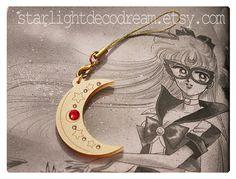 SAILOR V Crescent Sailor Moon Inspired Acrylic Phone Strap for Mahou Kei & Magical Girl Fashion