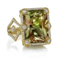 18k Gold and Diamond Csarite™ Coco Ring by Erica Courtney®
