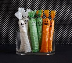 Guest bags filled with treats #halloween